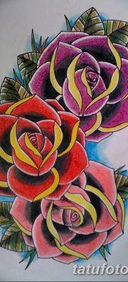 фото тату три розы от 21.08.2017 №008 – Three rose tattoos – tatufoto.com