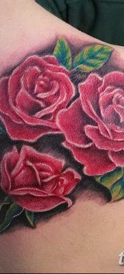 фото тату три розы от 21.08.2017 №012 – Three rose tattoos – tatufoto.com