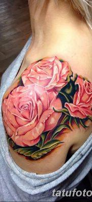 фото тату три розы от 21.08.2017 №014 – Three rose tattoos – tatufoto.com