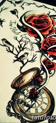 фото тату три розы от 21.08.2017 №015 – Three rose tattoos – tatufoto.com