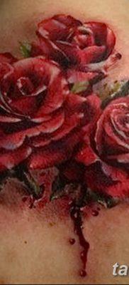 фото тату три розы от 21.08.2017 №017 – Three rose tattoos – tatufoto.com