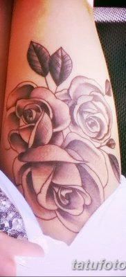 фото тату три розы от 21.08.2017 №021 – Three rose tattoos – tatufoto.com