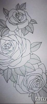 фото тату три розы от 21.08.2017 №023 – Three rose tattoos – tatufoto.com