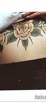 фото тату три розы от 21.08.2017 №024 – Three rose tattoos – tatufoto.com