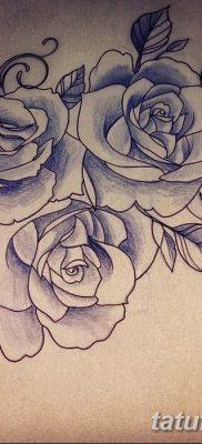 фото тату три розы от 21.08.2017 №025 – Three rose tattoos – tatufoto.com