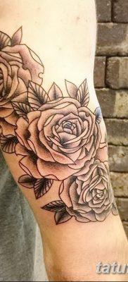 фото тату три розы от 21.08.2017 №029 – Three rose tattoos – tatufoto.com