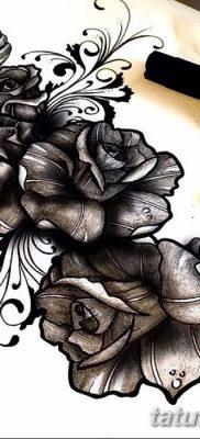 фото тату три розы от 21.08.2017 №030 – Three rose tattoos – tatufoto.com