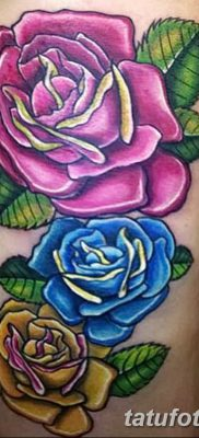 фото тату три розы от 21.08.2017 №035 – Three rose tattoos – tatufoto.com 1231323123232