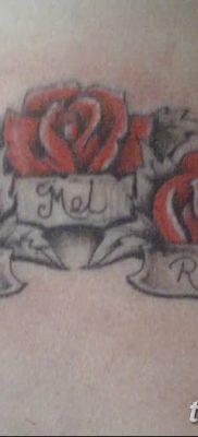 фото тату три розы от 21.08.2017 №042 – Three rose tattoos – tatufoto.com