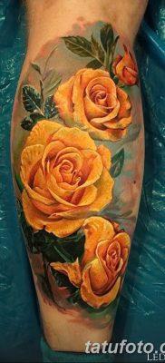 фото тату три розы от 21.08.2017 №044 – Three rose tattoos – tatufoto.com