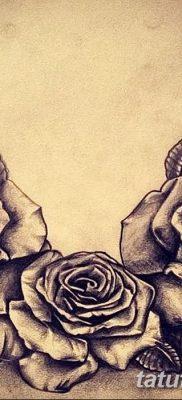 фото тату три розы от 21.08.2017 №046 – Three rose tattoos – tatufoto.com