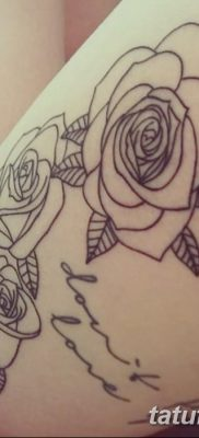 фото тату три розы от 21.08.2017 №048 – Three rose tattoos – tatufoto.com