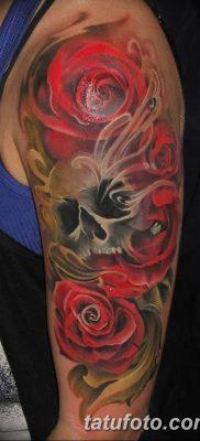 фото тату три розы от 21.08.2017 №050 – Three rose tattoos – tatufoto.com