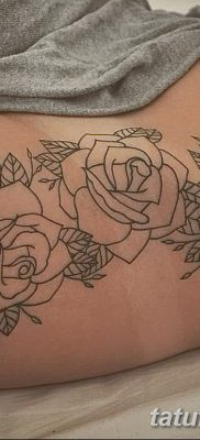 фото тату три розы от 21.08.2017 №051 – Three rose tattoos – tatufoto.com