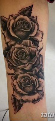 фото тату три розы от 21.08.2017 №053 – Three rose tattoos – tatufoto.com