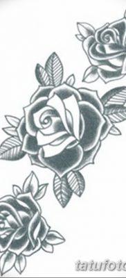 фото тату три розы от 21.08.2017 №057 – Three rose tattoos – tatufoto.com