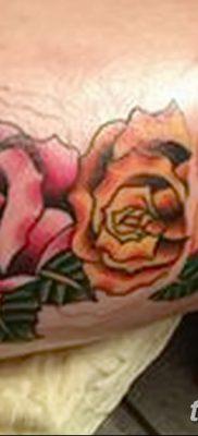 фото тату три розы от 21.08.2017 №059 – Three rose tattoos – tatufoto.com