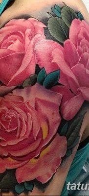 фото тату три розы от 21.08.2017 №060 – Three rose tattoos – tatufoto.com