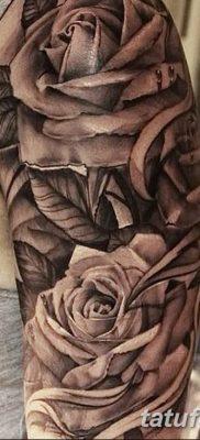 фото тату три розы от 21.08.2017 №062 – Three rose tattoos – tatufoto.com
