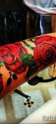 фото тату три розы от 21.08.2017 №070 – Three rose tattoos – tatufoto.com