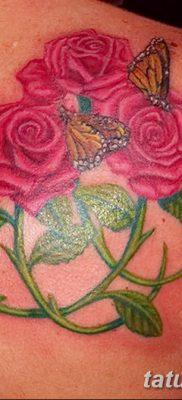 фото тату три розы от 21.08.2017 №071 – Three rose tattoos – tatufoto.com