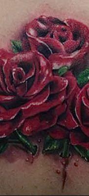 фото тату три розы от 21.08.2017 №091 – Three rose tattoos – tatufoto.com 12323123