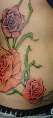 фото тату три розы от 21.08.2017 №093 – Three rose tattoos – tatufoto.com
