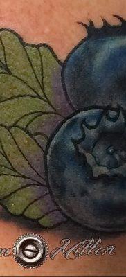 фото тату черника от 21.08.2017 №005 – Blueberry tattoo – tatufoto.com