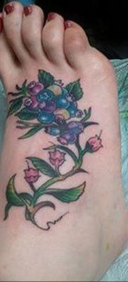 фото тату черника от 21.08.2017 №013 – Blueberry tattoo – tatufoto.com