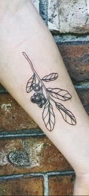фото тату черника от 21.08.2017 №015 – Blueberry tattoo – tatufoto.com