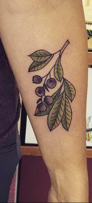 фото тату черника от 21.08.2017 №018 – Blueberry tattoo – tatufoto.com