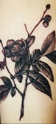 фото тату черника от 21.08.2017 №032 – Blueberry tattoo – tatufoto.com