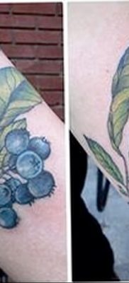фото тату черника от 21.08.2017 №033 – Blueberry tattoo – tatufoto.com