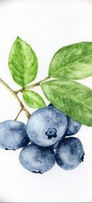 фото тату черника от 21.08.2017 №041 – Blueberry tattoo – tatufoto.com
