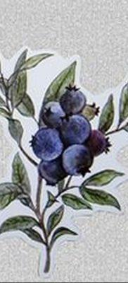 фото тату черника от 21.08.2017 №048 – Blueberry tattoo – tatufoto.com