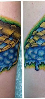 фото тату черника от 21.08.2017 №054 – Blueberry tattoo – tatufoto.com