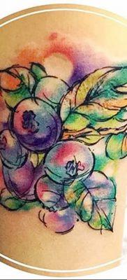 фото тату черника от 21.08.2017 №059 – Blueberry tattoo – tatufoto.com