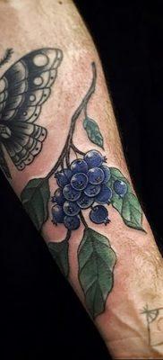 фото тату черника от 21.08.2017 №060 – Blueberry tattoo – tatufoto.com