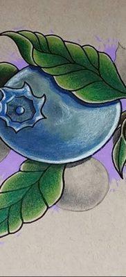фото тату черника от 21.08.2017 №061 – Blueberry tattoo – tatufoto.com