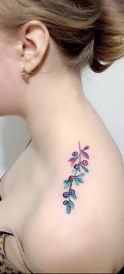 фото тату черника от 21.08.2017 №064 – Blueberry tattoo – tatufoto.com