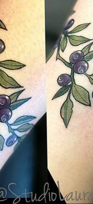 фото тату черника от 21.08.2017 №075 – Blueberry tattoo – tatufoto.com