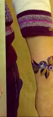фото тату черника от 21.08.2017 №079 – Blueberry tattoo – tatufoto.com