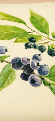 фото тату черника от 21.08.2017 №084 – Blueberry tattoo – tatufoto.com