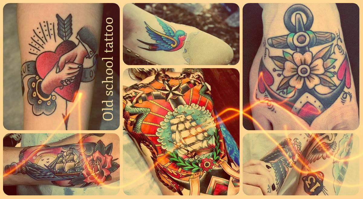 Old school tattoo - фото примеры рисунков татуировки - олд скул тату