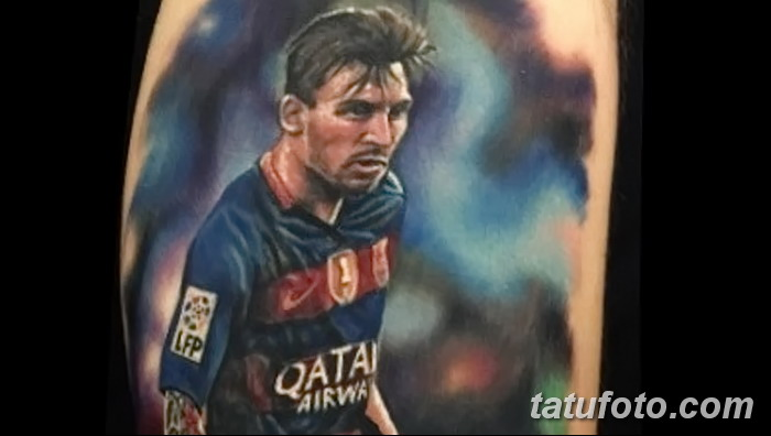 фото Тату Лионеля Месси от 25.09.2017 №005 - Tattoo of Lionel Messi - tatufoto.com