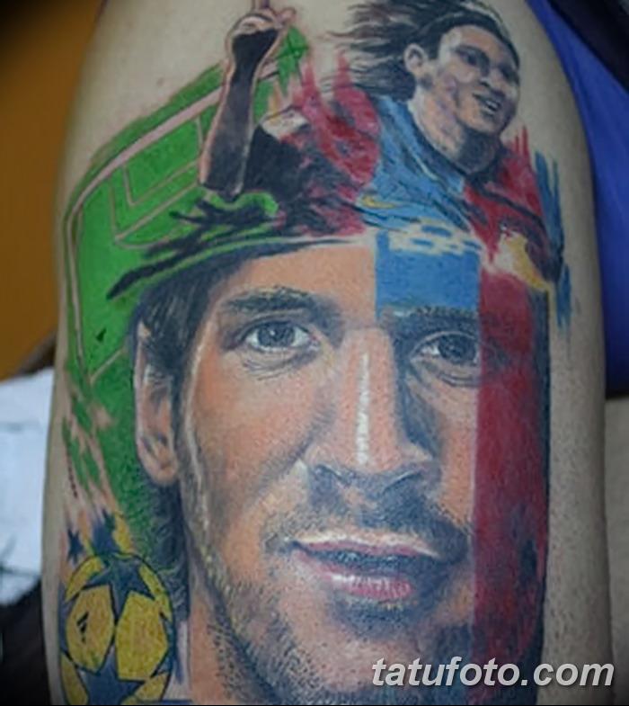 фото Тату Лионеля Месси от 25.09.2017 №011 - Tattoo of Lionel Messi - tatufoto.com