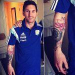 фото Тату Лионеля Месси от 25.09.2017 №013 - Tattoo of Lionel Messi - tatufoto.com