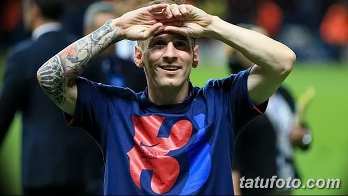 фото Тату Лионеля Месси от 25.09.2017 №015 - Tattoo of Lionel Messi - tatufoto.com