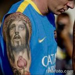 фото Тату Лионеля Месси от 25.09.2017 №021 - Tattoo of Lionel Messi - tatufoto.com