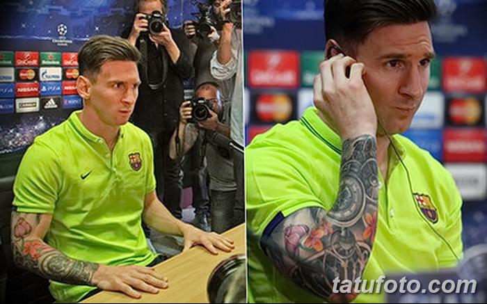 фото Тату Лионеля Месси от 25.09.2017 №024 - Tattoo of Lionel Messi - tatufoto.com